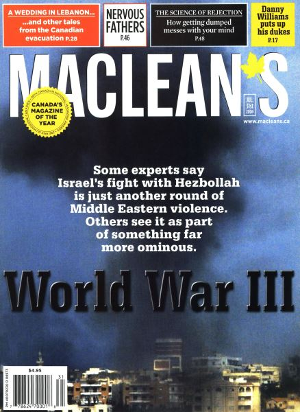 Issue: - JUL 31st 2006 | Maclean's