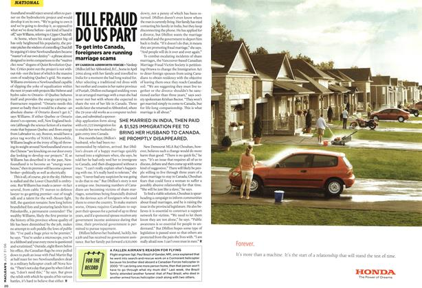 Article Preview: TILL FRAUD DO US PART, JUL 31st 2006 2006 | Maclean's