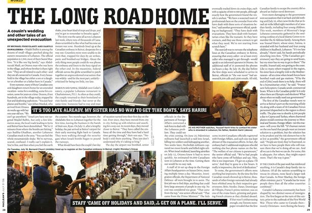 Article Preview: THE LONG ROAD HOME, JUL 31st 2006 2006 | Maclean's