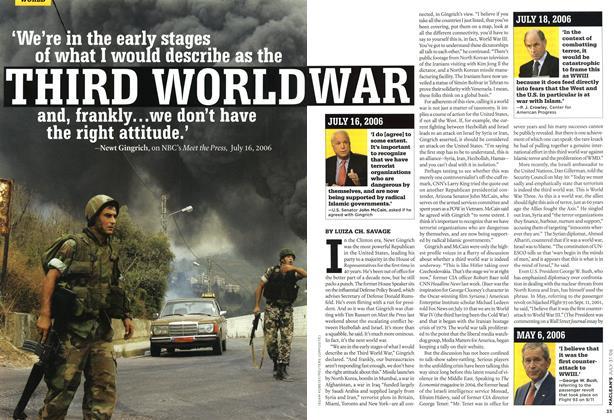 Article Preview: THIRD WORLD WAR, JUL 31st 2006 2006 | Maclean's
