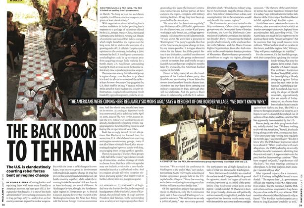 Article Preview: THE BACK DOOR TO TEHRAN, JUL 31st 2006 2006 | Maclean's