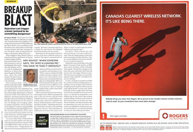 Article Preview: BREAKUP BLAST, JUL 31st 2006 2006 | Maclean's