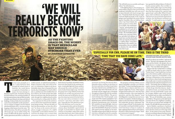 Article Preview: 'WE WILL REALLY BECOME TERRORISTS NOW', AUG. 7th 2006 2006 | Maclean's