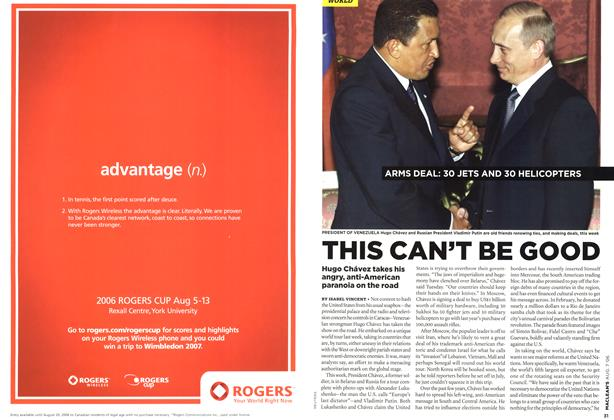 Article Preview: THIS CAN'T BE GOOD, AUG. 7th 2006 2006 | Maclean's