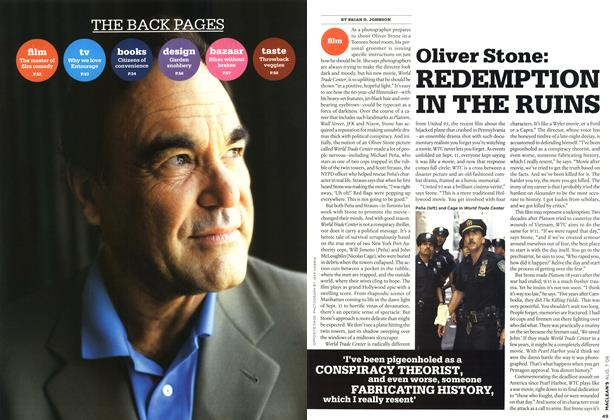 Article Preview: Oliver Stone: REDEMPTION IN THE RUINS, AUG. 7th 2006 2006 | Maclean's