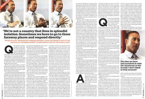 Article Preview: 'We're not a country that lives in splendid isolation. Sometimes we have to go to these faraway places and respond directly.', AUG. 7th 2006 2006 | Maclean's