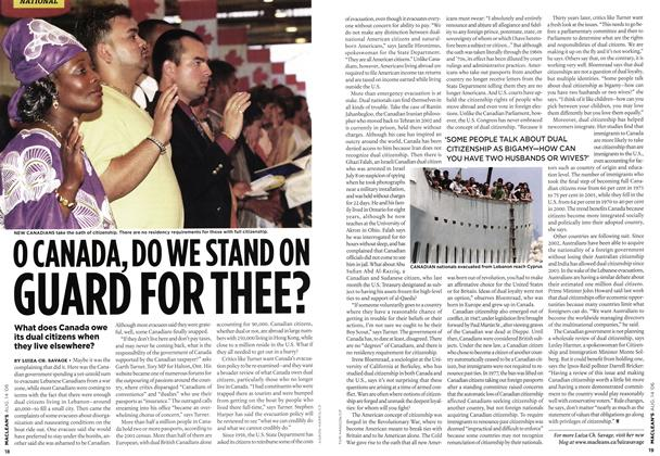 Article Preview: O CANADA, DO WE STAND ON GUARD FOR THEE?, AUG. 14th 2006 2006 | Maclean's