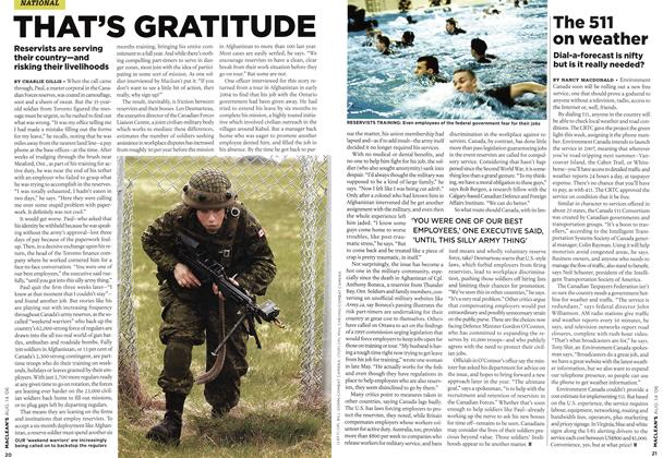 Article Preview: THAT'S GRATITUDE, AUG. 14th 2006 2006 | Maclean's