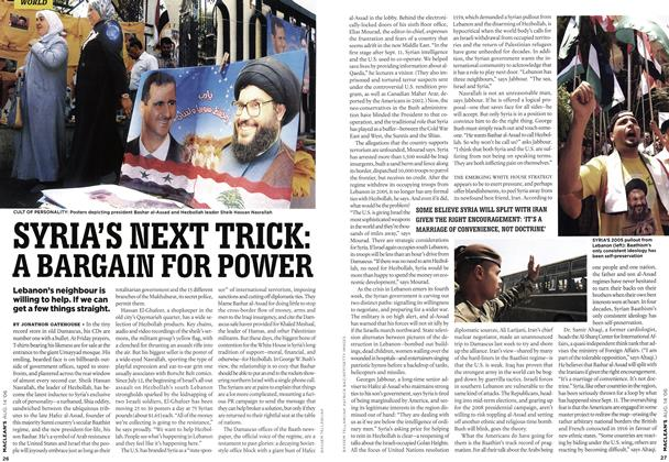 Article Preview: SYRIA'S NEXT TRICK: A BARGAIN FOR POWER, AUG. 14th 2006 2006 | Maclean's