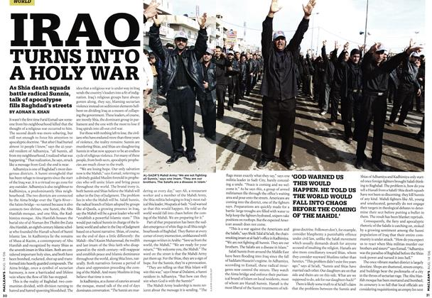 Article Preview: IRAQ TURNS INTO A HOLY WAR, AUG. 14th 2006 2006 | Maclean's