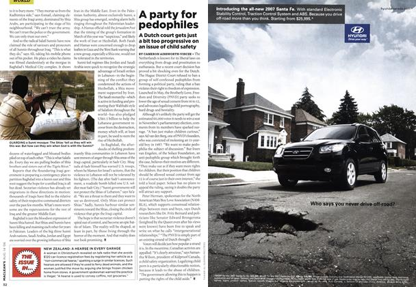 Article Preview: THE ISSUE IN..., AUG. 14th 2006 2006 | Maclean's