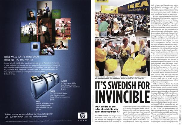 Article Preview: IT'S SWEDISH FOR INVINCIBLE, AUG. 14th 2006 2006 | Maclean's