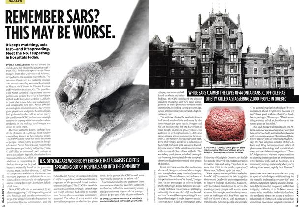 Article Preview: REMEMBER SARS? THIS MAY BE WORSE., AUG. 14th 2006 2006 | Maclean's