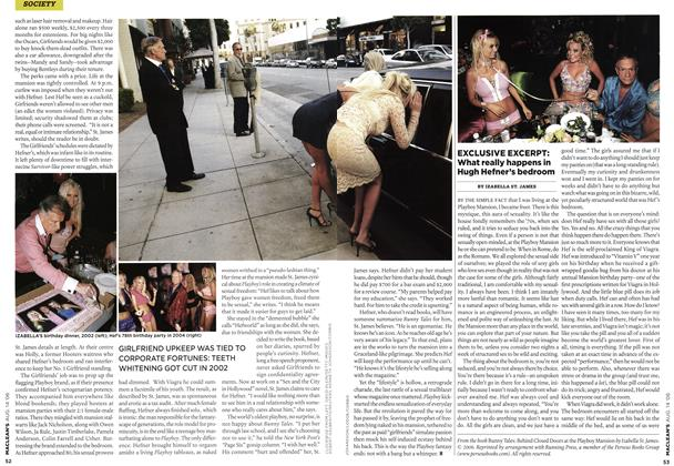 Article Preview: EXCLUSIVE EXCERPT: What really happens in Hugh Hefner's bedroom, AUG. 14th 2006 2006 | Maclean's