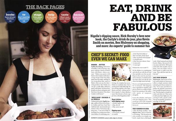 Article Preview: EAT, DRINK AND BE FABULOUS, AUG. 14th 2006 2006 | Maclean's