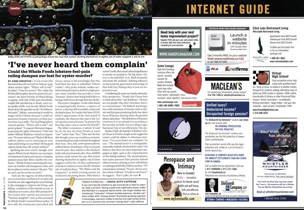Article Preview: 'I've never heard them complain', AUG. 14th 2006 2006 | Maclean's