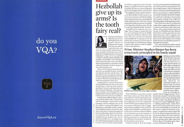 Article Preview: Hezbollah give up its arms? Is the tooth fairy real?, AUG. 14th 2006 2006 | Maclean's