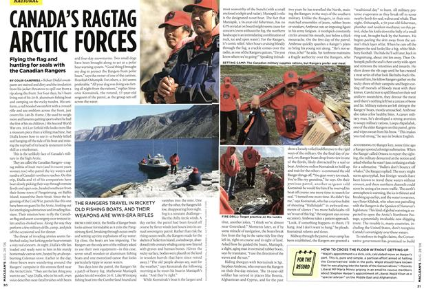 Article Preview: CANADA'S RAGTAG ARCTIC FORCES, AUG. 28th 2006 2006 | Maclean's