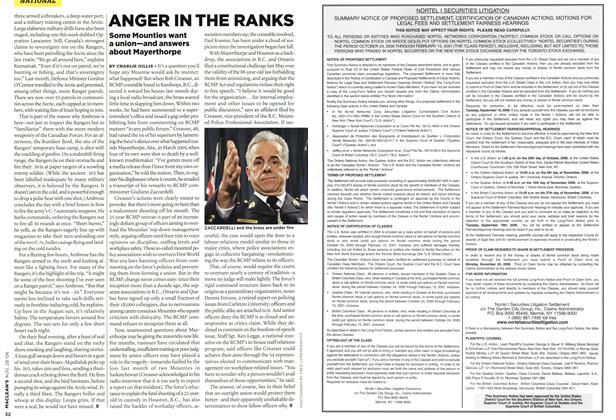 Article Preview: ANGER IN THE RANKS, AUG. 28th 2006 2006 | Maclean's