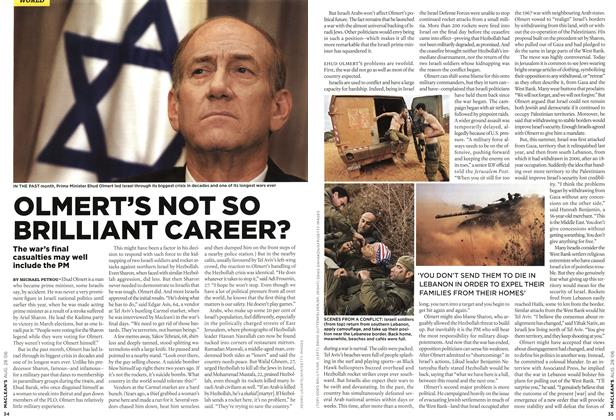 Article Preview: OLMERT'S NOT SO BRILLIANT CAREER?, AUG. 28th 2006 2006 | Maclean's