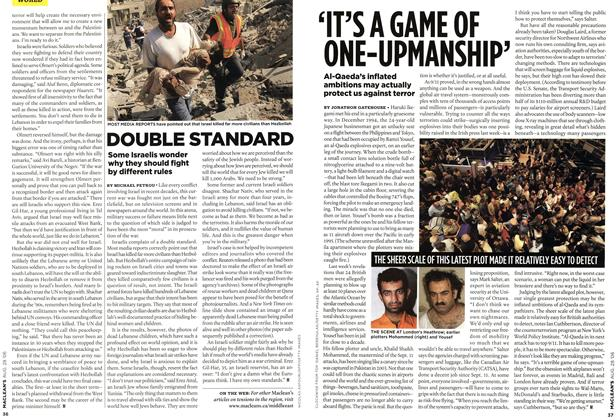 Article Preview: DOUBLE STANDARD, AUG. 28th 2006 2006 | Maclean's