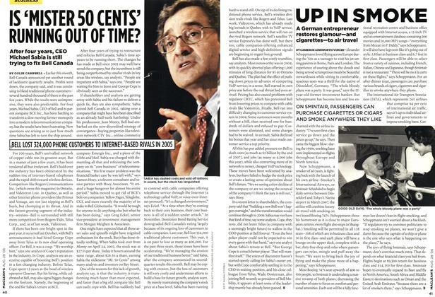 Article Preview: IS 'MISTER 50 CENTS' RUNNING OUT OF TIME?, AUG. 28th 2006 2006 | Maclean's