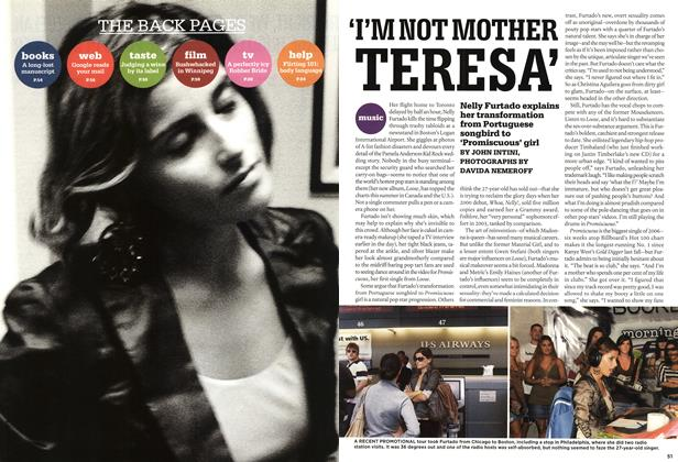 Article Preview: 'I'M NOT MOTHER TERESA', AUG. 28th 2006 2006 | Maclean's