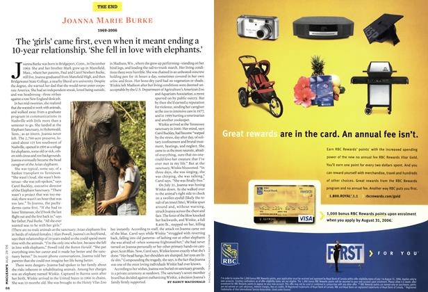 Article Preview: The 'girls' came first, even when it meant ending a 10-year relationship. 'She fell in love with elephants.', AUG. 28th 2006 2006 | Maclean's