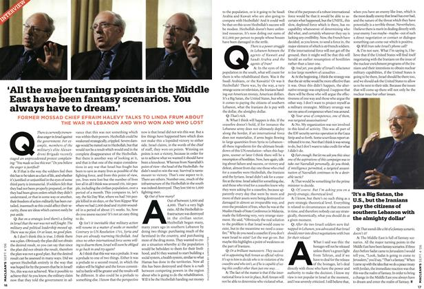 Article Preview: 'All the major turning points in the Middle East have been fantasy scenarios. You always have to dream.', SEPT. 4th 2006 2006 | Maclean's