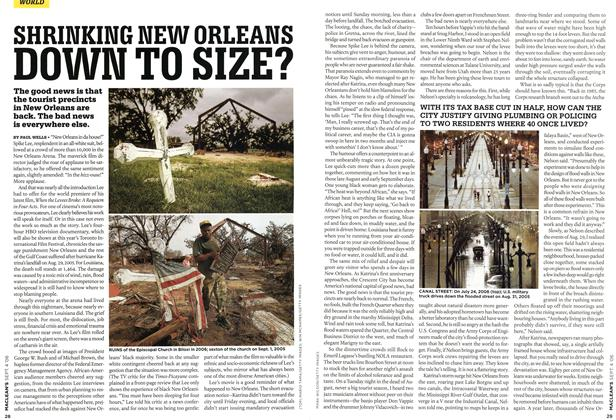 Article Preview: SHRINKING NEW ORLEANS DOWN TO SIZE?, SEPT. 4th 2006 2006 | Maclean's