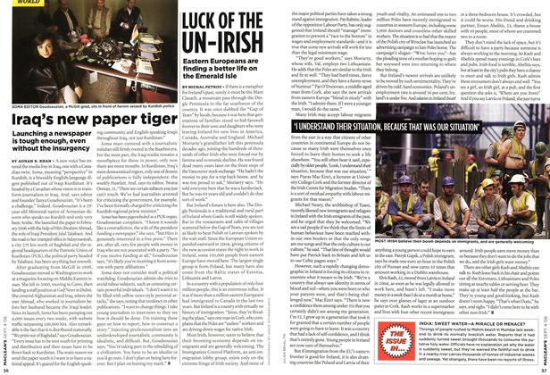 Article Preview: Iraq's new paper tiger, SEPT. 4th 2006 2006 | Maclean's