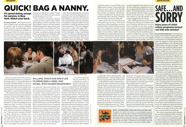 Article Preview: QUICK! BAG A NANNY., SEPT. 4th 2006 2006 | Maclean's
