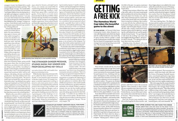 Article Preview: GETTING A FREE KICK, SEPT. 4th 2006 2006   Maclean's