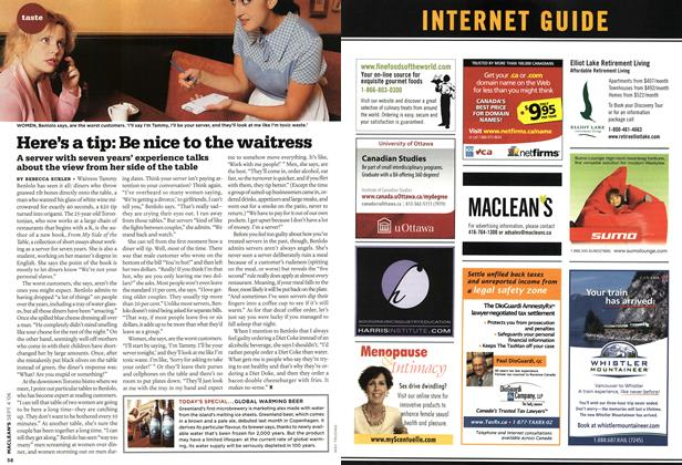 Article Preview: Here's a tip: Be nice to the waitress, SEPT. 4th 2006 2006 | Maclean's
