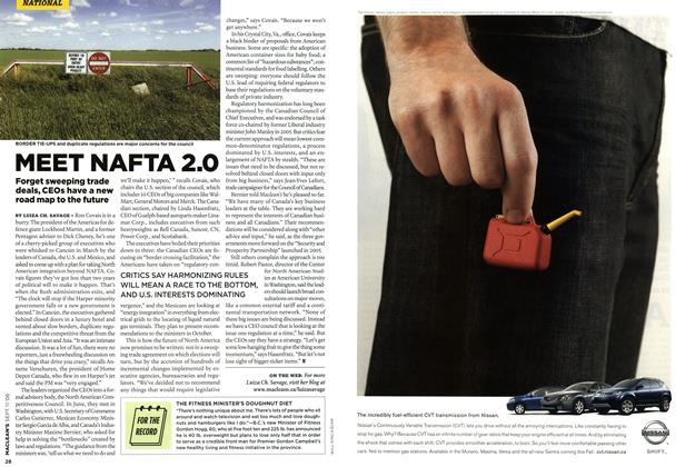 Article Preview: MEET NAFTA 2.0, SEPT. 11th 2006 2006 | Maclean's