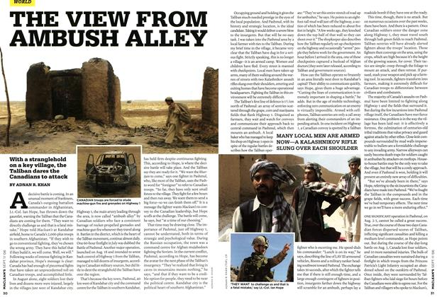 Article Preview: THE VIEW FROM AMBUSH ALLEY, SEPT. 11th 2006 2006 | Maclean's