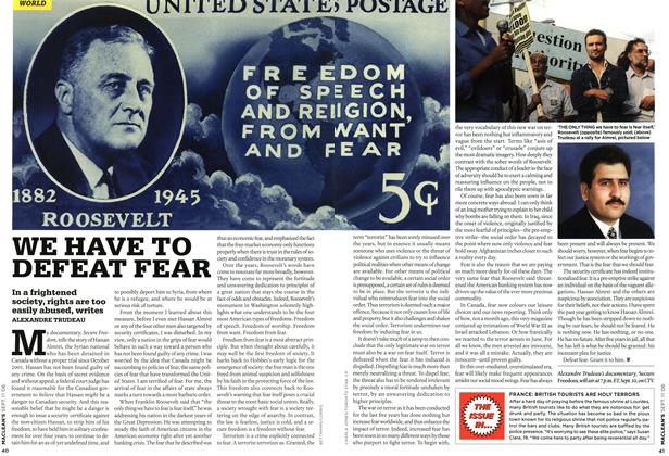 Article Preview: WE HAVE TO DEFEAT FEAR, SEPT. 11th 2006 2006 | Maclean's
