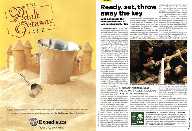 Article Preview: Ready, set, throw away the key, SEPT. 11th 2006 2006 | Maclean's
