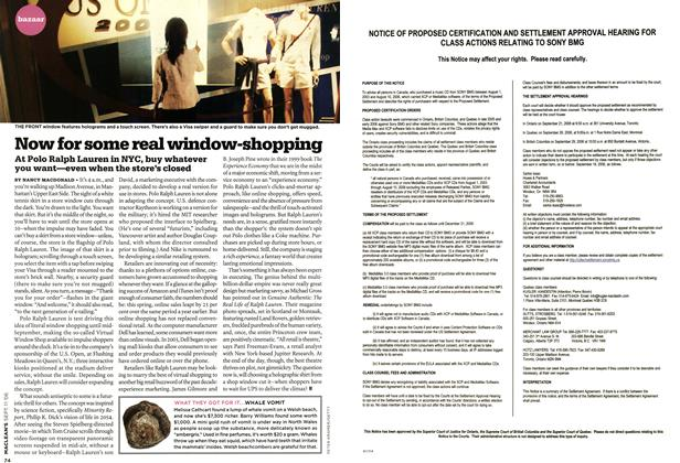 Article Preview: Now for some real window-shopping, SEPT. 11th 2006 2006 | Maclean's