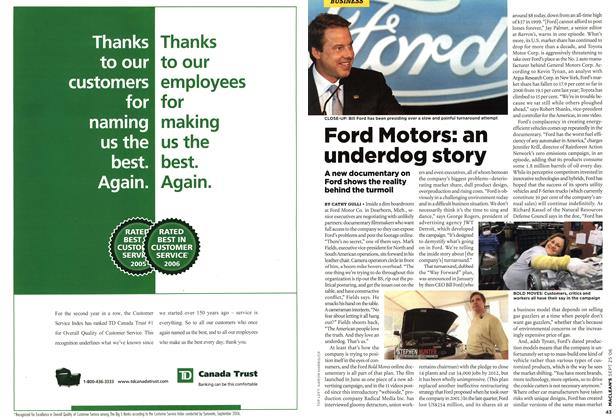 Article Preview: Ford Motors: an underdog story, SEPT. 25th 2006 2006 | Maclean's