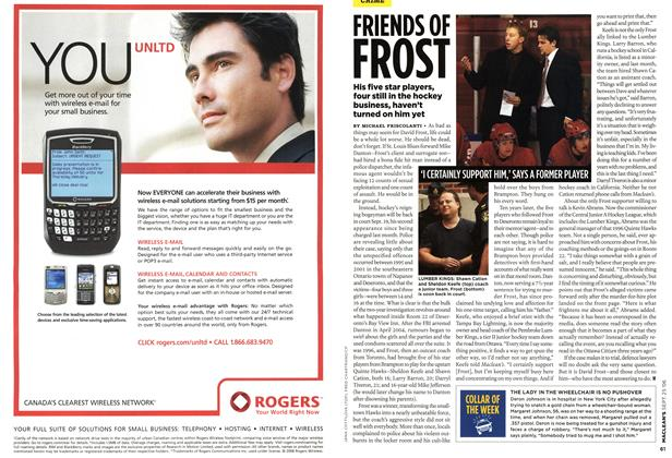 Article Preview: FRIEND OF FROST, SEPT. 25th 2006 2006 | Maclean's