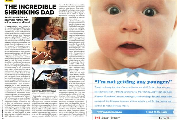 Article Preview: THE INCREDIBLE SHRINKING DAD, SEPT. 25th 2006 2006 | Maclean's