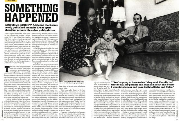 Article Preview: SOMETHING HAPPENED, SEPT. 25th 2006 2006 | Maclean's
