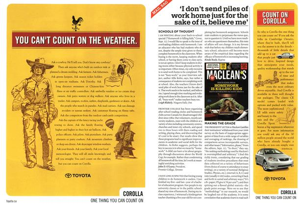 Article Preview: MAIL BAG, SEPT. 25th 2006 2006 | Maclean's