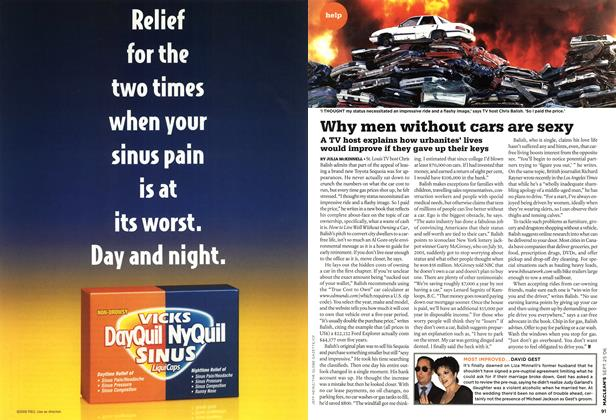 Article Preview: Why men without cars are sexy, SEPT. 25th 2006 2006 | Maclean's
