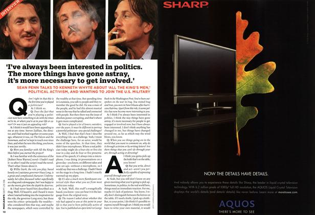 Article Preview: 'I've always been interested in politics. The more things have gone astray, it's more necessary to get involved.', SEPT. 25th 2006 2006 | Maclean's