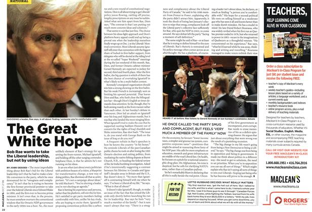 Article Preview: The Great White Hope, OCT. 2nd 2006 2006 | Maclean's
