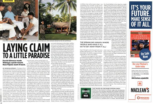 Article Preview: LAYING CLAIM TO A LITTLE PARADISE, OCT. 2nd 2006 2006 | Maclean's