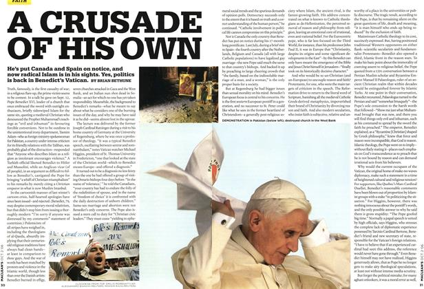 Article Preview: A CRUSADE OF HIS OWN, OCT. 2nd 2006 2006 | Maclean's