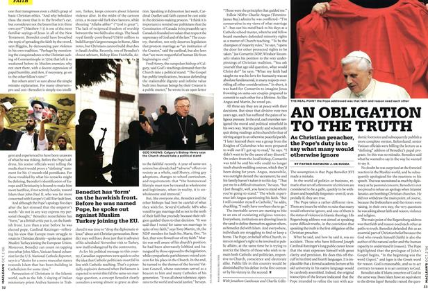 Article Preview: AN OBLIGATION TO THE TRUTH, OCT. 2nd 2006 2006 | Maclean's